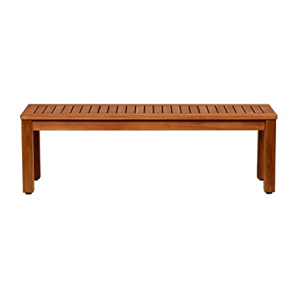 Amazonia Aster Eucalyptus Backless Patio Bench, 52u0026quot;