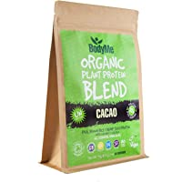 BodyMe Organic Vegan Protein Powder Blend | Raw Cacao | 1kg (2.2lb) | UNSWEETENED with 3 Plant Proteins