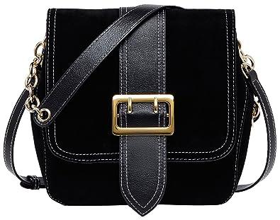 39db1946f3 Image Unavailable. Image not available for. Color  BOYATU Velvet Crossbody  Bag Leather Shoulder Purse for Women Messenger Bags