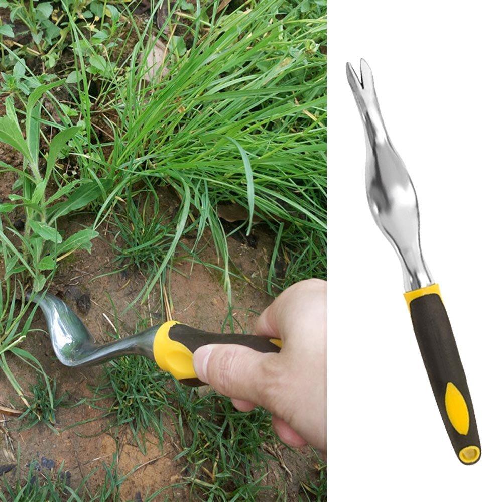 Weeder weeding ,gardening tools weeder,Aluminum Alloy Hand Weeder Weeding Remover Lawn Garden Tools with Ergonomic Handle Bonsai Tools Gardener Ground Drill Shovel,gardening weeder
