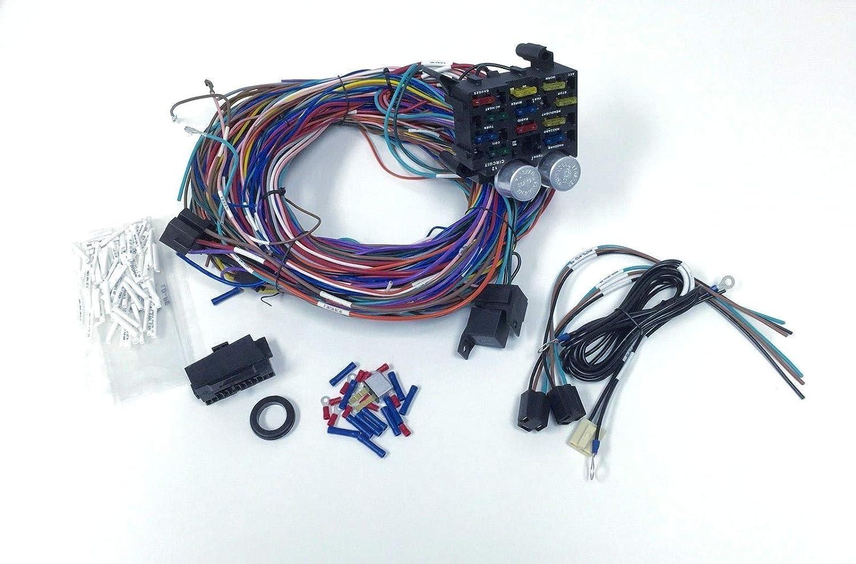 Amazon.com: Pirate Mfg Universal 12v 24 Circuit 12 Fuse Wiring Harness Wire  Kit V8 Rat Hot Rod GM: Automotive   Wiring Harness Fuse Box      Amazon.com