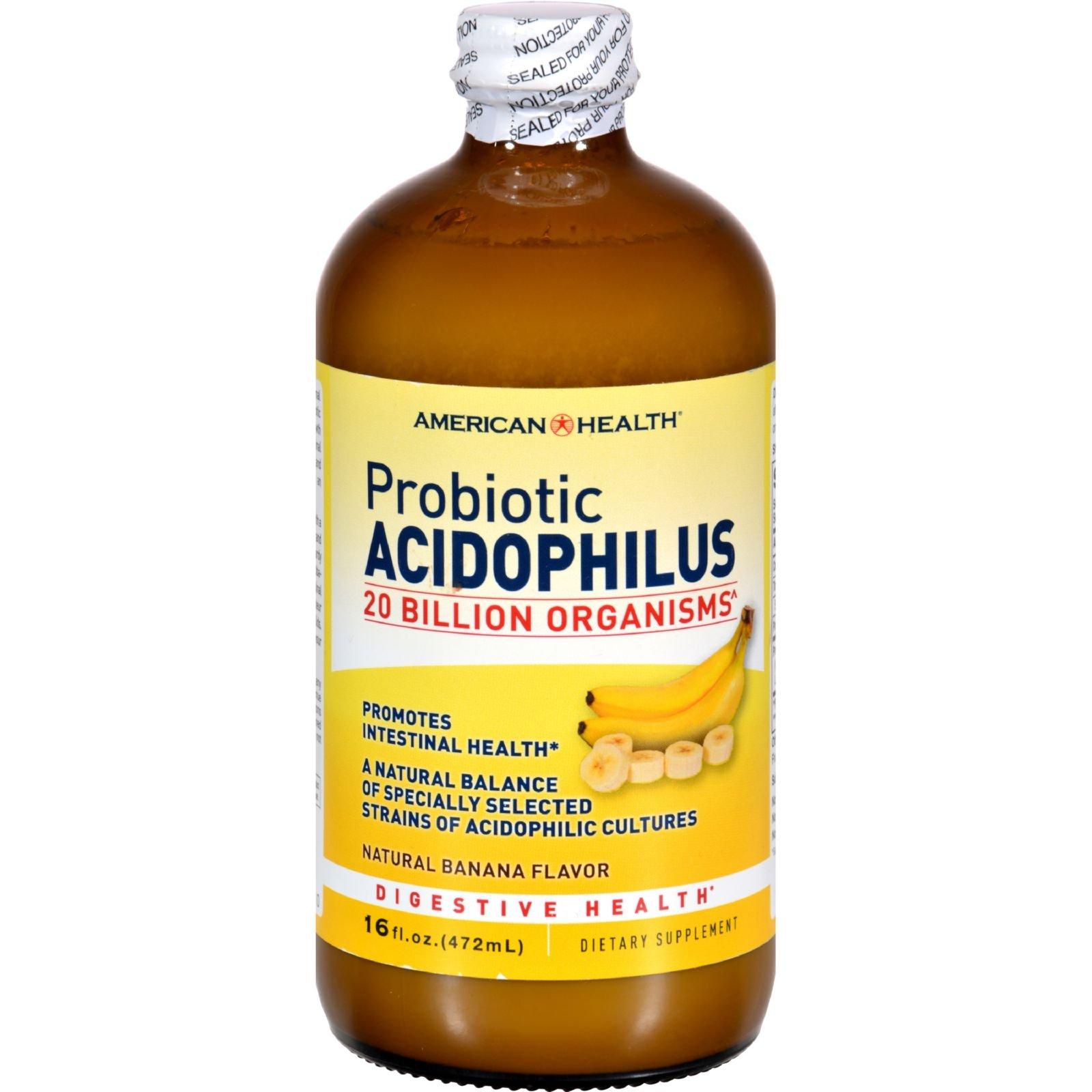 4 Pack of American Health Probiotic Acidophilus Banana - 16 fl oz - - -