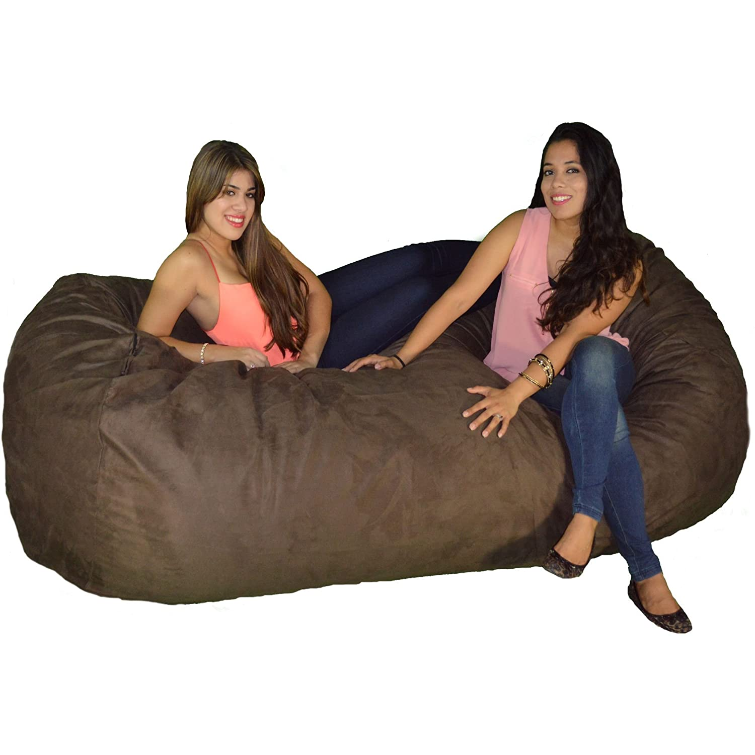Large Bean Bag Chair 8 Foot Cozy Beanbag Filled with 68 Lbs of Premium Cozy Foam for Ultimate Comfort