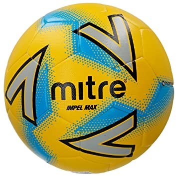 Mitre Impel Max Training Football - Yellow Silver Blue c9dc3bfdaedac