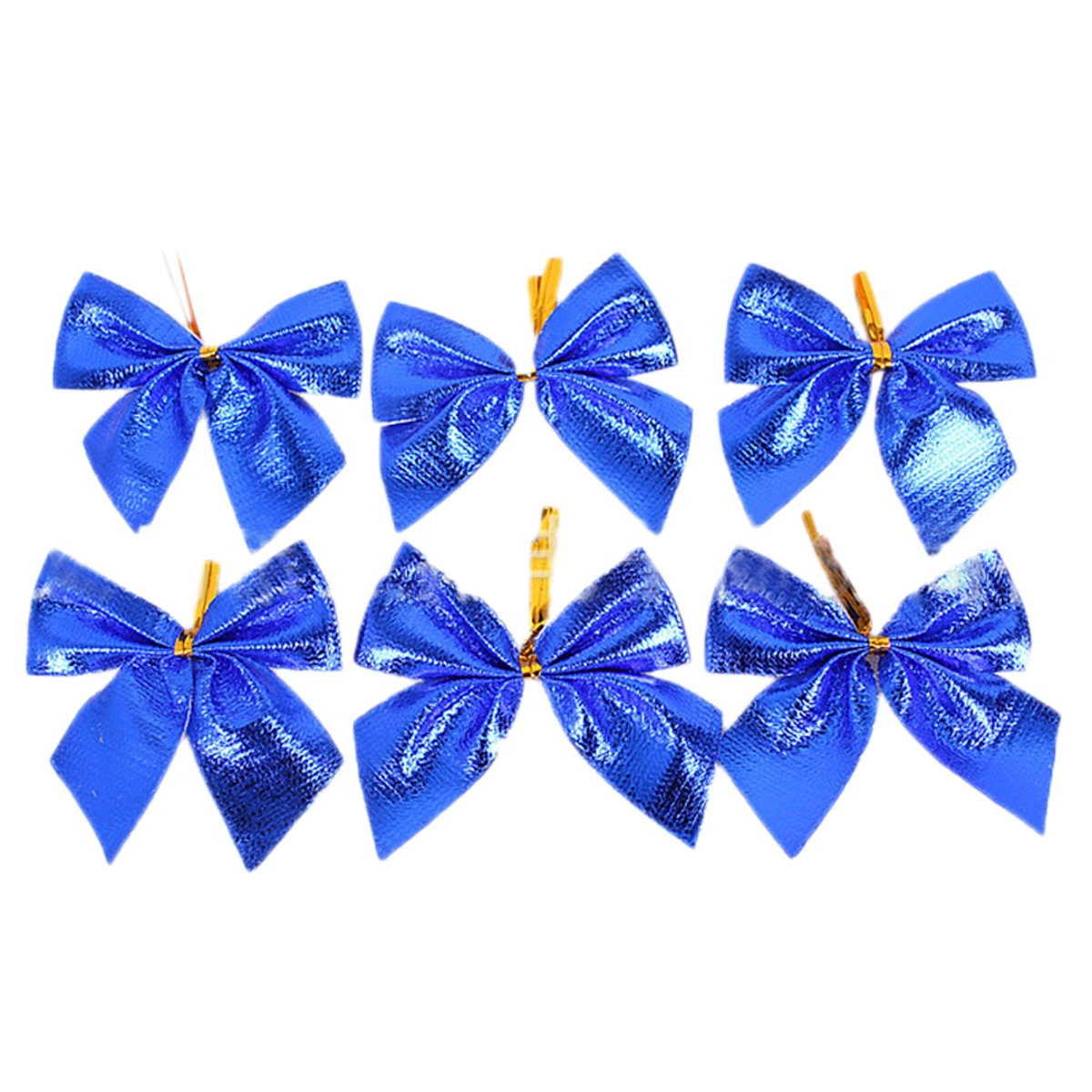 Edtoy 12pcs Christmas Tree Bow Decoration Baubles Merry XMAS Party Garden Bows Decor Ornament Blue