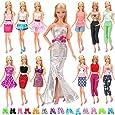15X articulos=5 X Vestidos estilo al azar 10 pares zapatos para Barbie Muñeca gegalo Navidad
