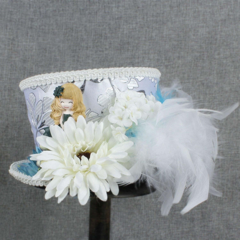 XHD-Sombreros Sombrero de Sombrerero Loco, Sombrero de Té, Alicia en el País de Las Maravillas, Sombrero de Novia, Sombrero de Kentucky Derby Moda y ...
