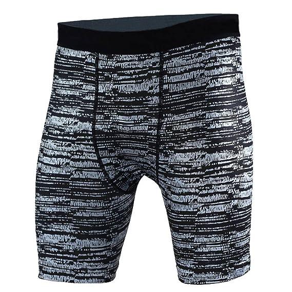 hibote Hombres Deporte Compresión Pantalones Cortos - Hombres ...