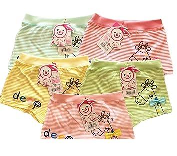 Black Temptation 5 al Azar de Chicas cómodo Color de los Calzoncillos Ropa Interior de algodón