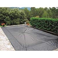 WerkaPro 11181 afdekzeil, 4 x 7 m, voor rechthoekig zwembad, 140 g/m², marineblauw