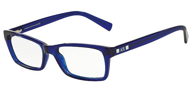 4c386aae Armani Exchange AX3007 Eyeglass Frames 8018-53 - Marine Transparent  AX3007-8018-53