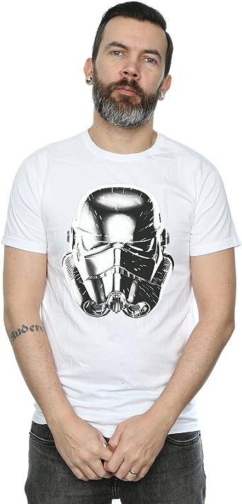 Star Wars Hombre Stormtrooper Warp Speed Helmet Camiseta ...