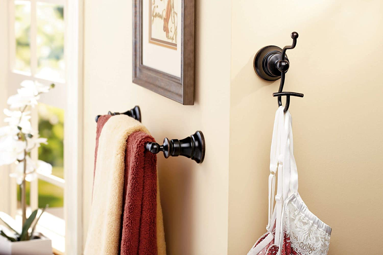 Brushed Nickel Moen YB9818BN Waterhill 18-Inch Towel Bar