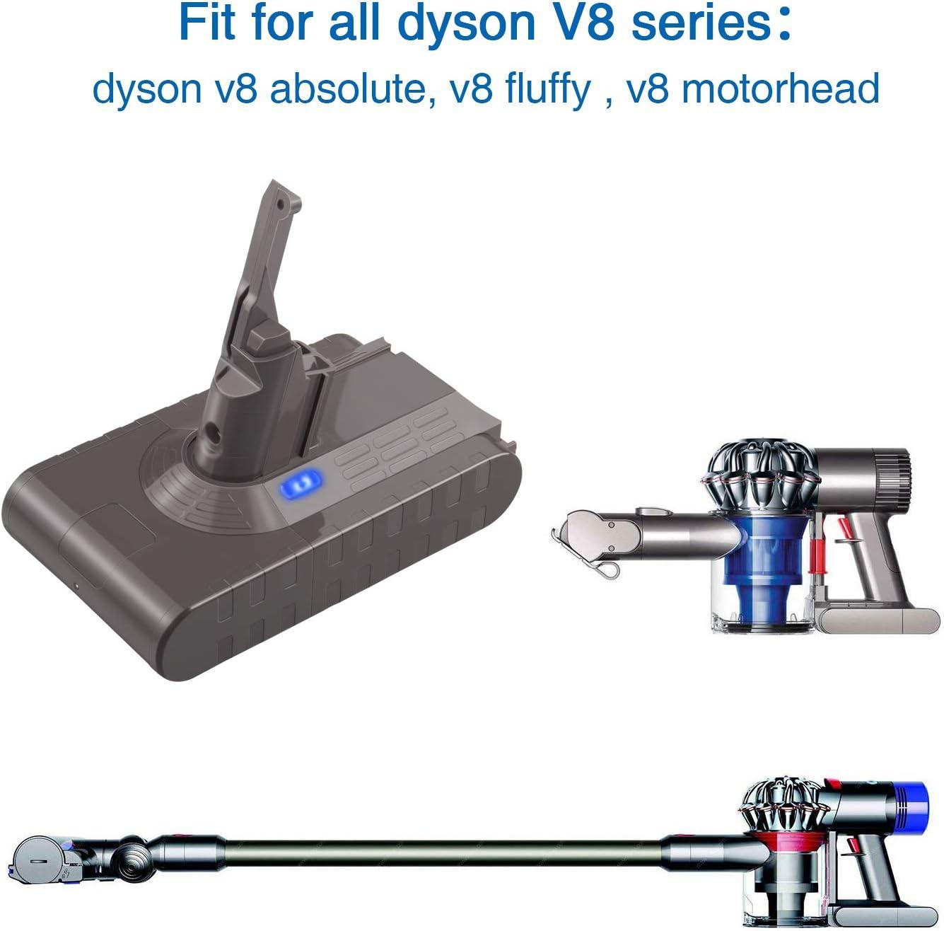 ARyee V8 Batería Compatible con Dyson V8 Series aspiradora Dyson ...