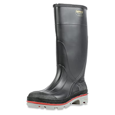 "Servus XTP 15"" PVC Chemical-Resistant Soft Toe Men's Work Boots, Black, Red & Grey (75108): Home Improvement"