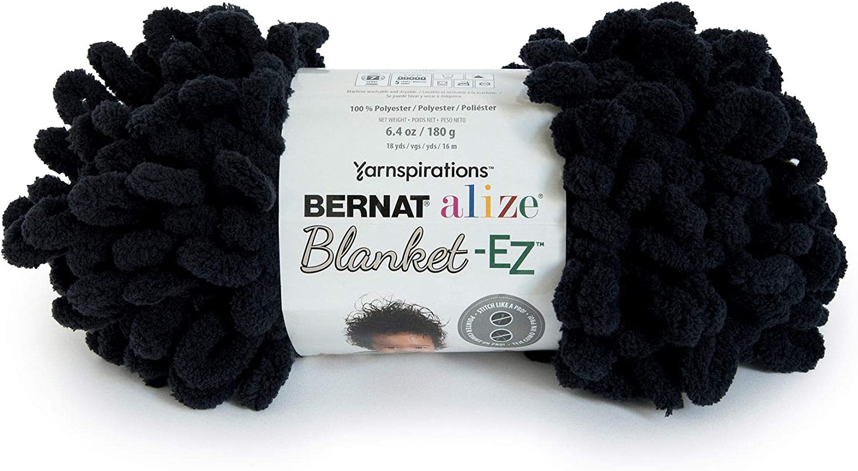 Black Bernat Alize Blanket-EZ Yarn