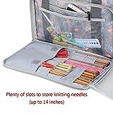 Teamoy Knitting Bag, Travel Yarn Storage Tote