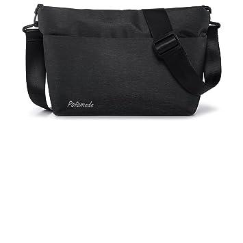 Pofomede Small Crossbody Bags Hobo Messenger Bag Men Shoulder Bags Satchel  Tote Handbag Multi-Pocket d07ace78fc290
