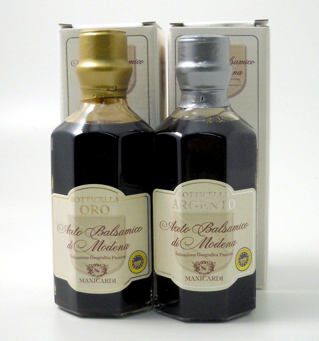 Manicardi Botticella Oro''25'' & Argento''22'' Aged Balsamic Vinegar - Pack of 2