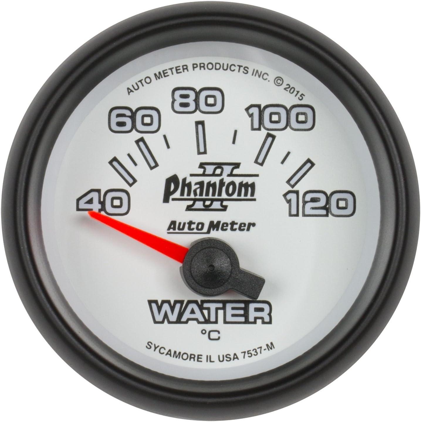 Water Temp 2 1//16 Ultra-Lite Ii 40-120/ºc Electric Auto Meter AutoMeter 4937-M Gauge