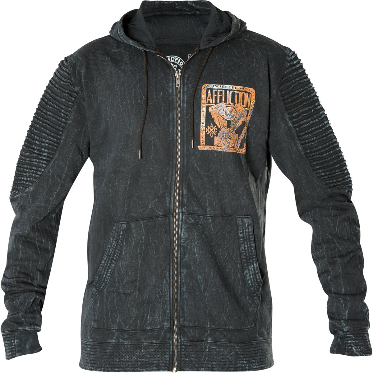 Affliction Hoody Motor Head Schwarz