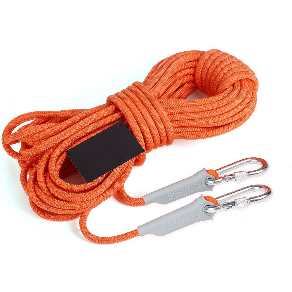 anhpi Rockクライミングロープ、アウトドア、安全、レスキュー、耐摩耗性ロープ、サバイバル機器Supplies 40m*6mm オレンジ 54621 オレンジ 40m*6mm