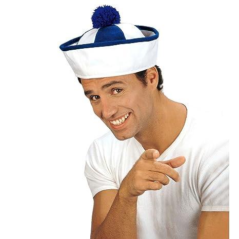 NET TOYS Berretto da marinaio bianco blu pon-pon cappello copricapo navale  marino marinaro marinaretto 6140fbb63184