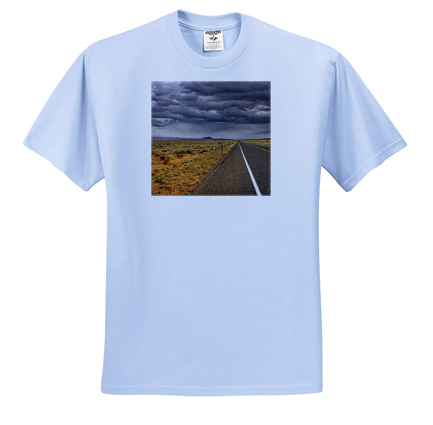 3dRose Mike Swindle Photography Scenery Storm on The Highway T-Shirts