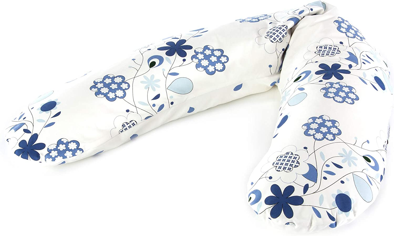 Theraline Coussin de grossesse et dallaitement original rempli de microbilles fines de sable avec housse ext/érieure /étoile de mer 190 cm