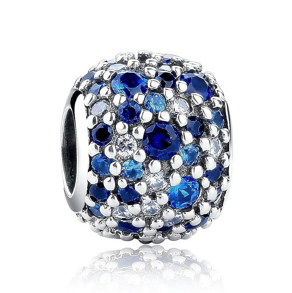 PAHALA 925 Strling Silver Mixed Colorful Crystals Bead Charm PAHALAS134