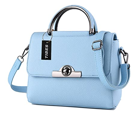 82367a5d6fcb Buy Tibes Modern Womens Cross Body Bag Cute Handbag Small Shoulder Bag  Light Blue Online at Low Prices in India - Amazon.in