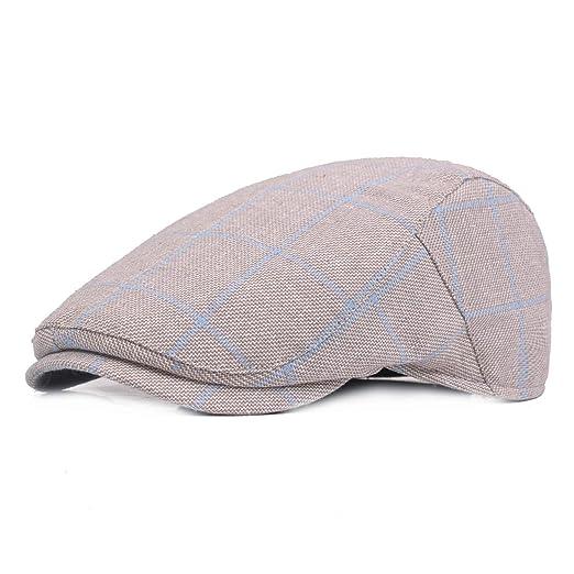 Fashion Summer Sun Hats for Men Women Casual Plaid Cotton Beret Caps Gorras Planas Boinas Check