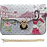 Ladies Graphic Designer Mini Clutch Bag Girls Purse Womens Handbag