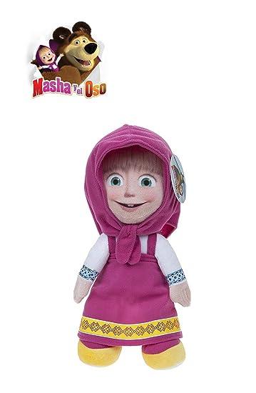 MASHA Y EL OSO - Pack 2 peluches personajes de la película