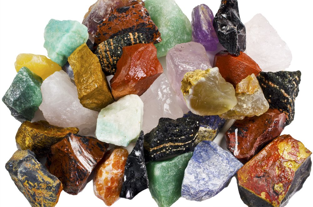 3 lbs of a Bulk Rough SOUTH AMERICAN Stone Mix - A Beautiful Stone Mix - Large 1'' Natural Raw Stones & Fountain Rocks for Tumbling, Cabbing, Polishing, Wire Wrapping, Wicca & Reiki Crystal Healing