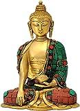 Red Bag Brass Gautam Buddha Statue - (Standard, Multicolour)