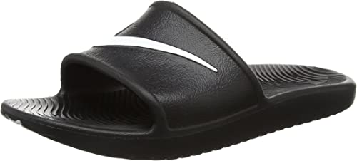 new images of wide varieties well known Amazon.com | Nike Men's Kawa Shower Slide Sandals Black/White Size ...