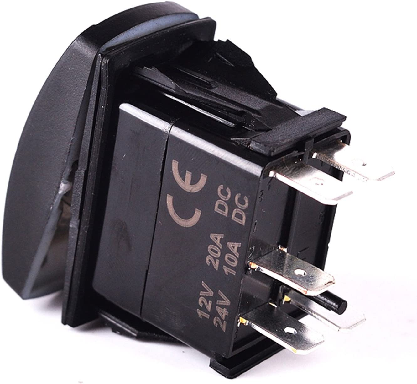 SLR1152BLPFBA Blue Laser Rocker Switch Backlit ACCESSORIES 12V Bright Light Powersports