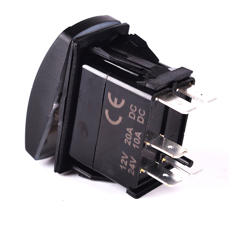 Red Laser Rocker Switch Backlit ACCESSORIES 12V Bright Light Powersports [SLR1152BLPFBA] by Bright Light Powersports (Image #5)
