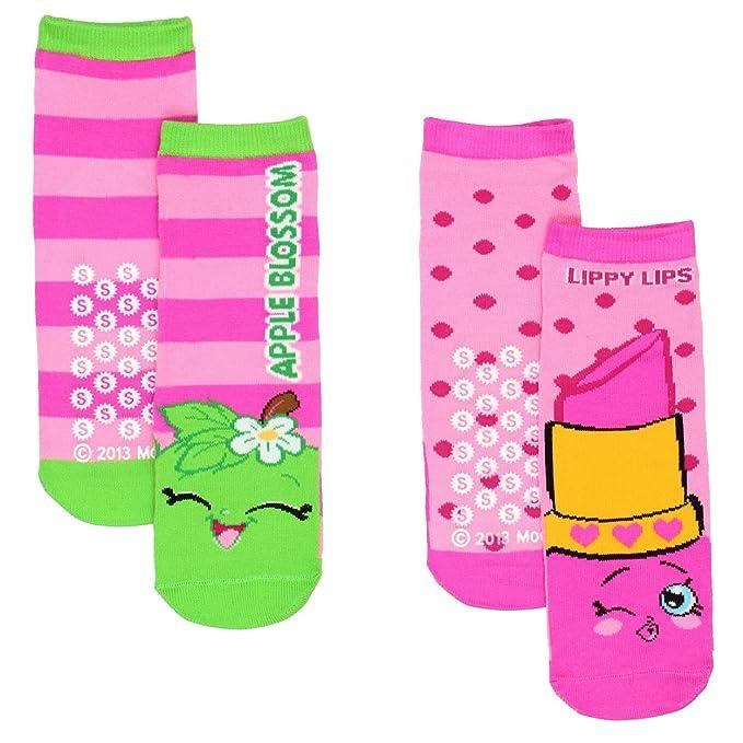 338df974d93 Shopkins Little Girls 2 pack Slipper Socks (6-8.5