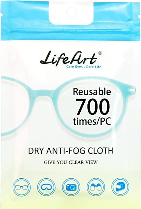Eyeglasses Cleaning Cloths LifeArt Anti-Fog Wipes Screens Tablets Cleaning Wipes for Eyeglasses Lens Wipes for Camera Lenses