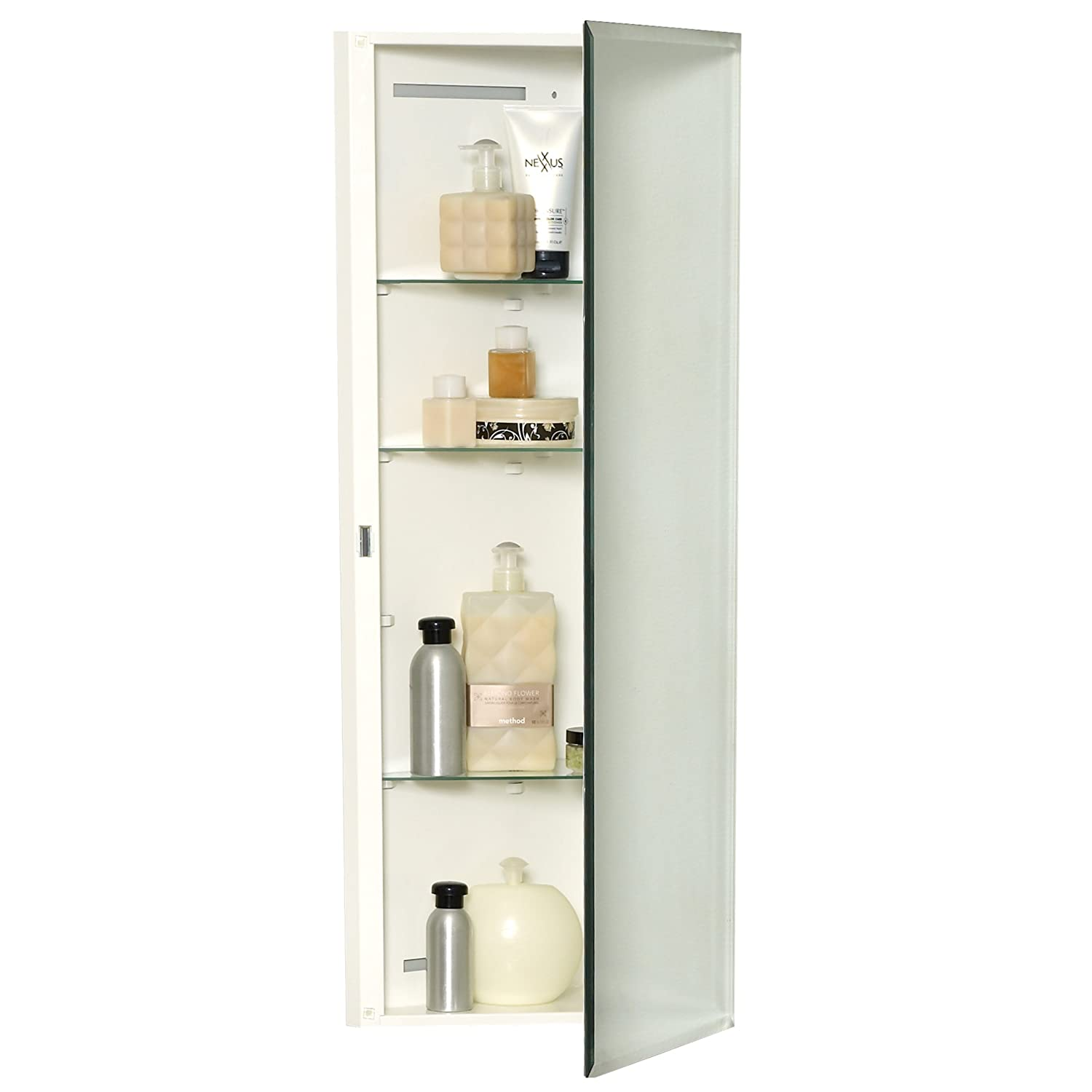 amazoncom zenith mb36cvbb corner medicine cabinet frameless home u0026 kitchen recessed medicine cabinet bathroom with double mirrors