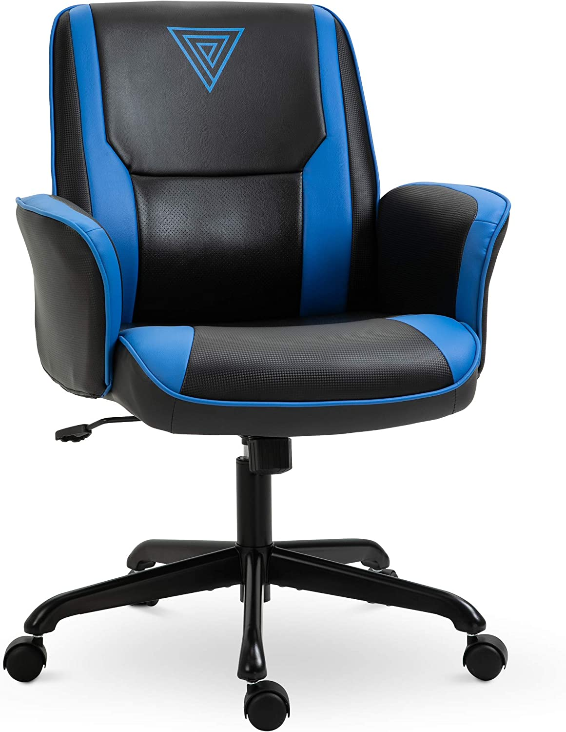 Vinsetto Breathable Faux Leather Office Computer Desk Chair for with an Adjustable Height & a Unique Racing Style, Blue