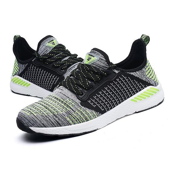 Gomnear Atmungsaktiver Sneaker Mens Frauen Laufen Leicht Paar Beiläufig Mesh Gehen Sportlich Sport Schuhe Grey Pink 37 2NNragViTJ
