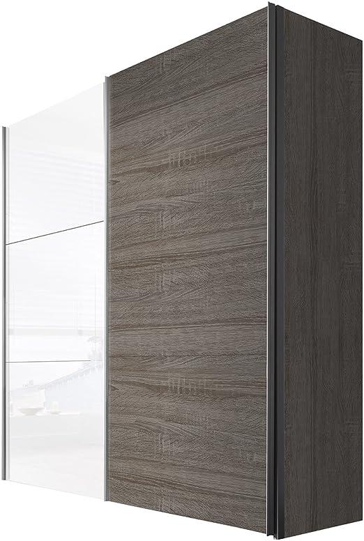 Solutions 43660 – 841 Armario con Puertas correderas 200 x 236 x 68 cm, Roble/marrón weissglas: Amazon.es: Hogar