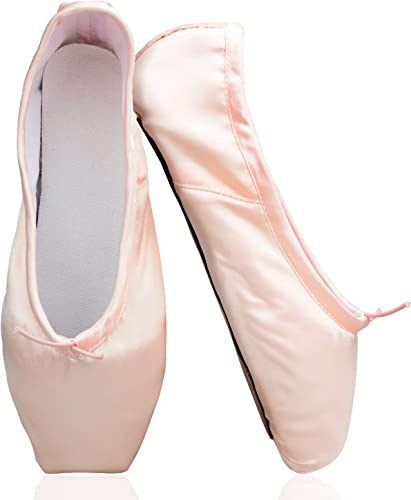 san francisco order top design Amazon.com | KUKOME Womens Girls Satin Ballet Pointe Shoes with ...