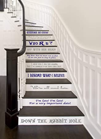 GMD DECALS - Juego de 14 pegatinas de vinilo para escaleras o pared, 60 cm x 5 cm x 10 cm por cita: Amazon.es: Bricolaje y herramientas