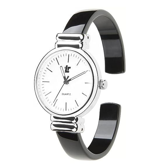 Moda Relojes Mujer Relojes Chica Simple Dial de Escala Especial Color Reloj Pulsera Correa de Fibra de Acetato Relojes de Pulsera Para Mujer, ...