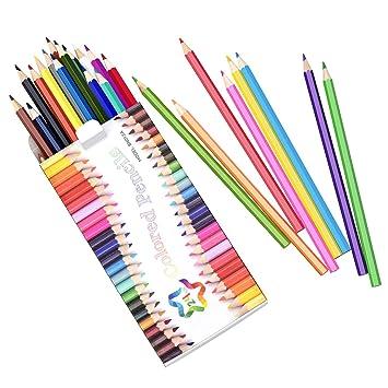 Amazon.com : Atmoko 24 Colored Pencils Set, Coloring Pencils Bulk ...