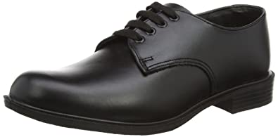 Toughees Hank Lace Up Black School Shoe 21107260 9 UK Toddler